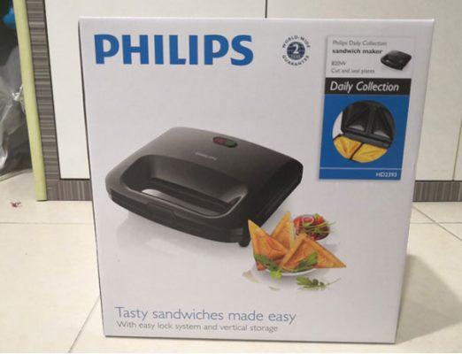 Mẫu máy kẹp bánh mì Philips HD2393