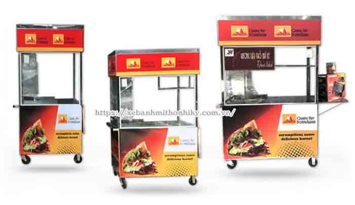 Xe bánh mì kích thước 1m, 1m2, 1m5 Quang Huy