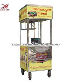 Mẫu xe bánh mì hamburger thiết kế đẹp