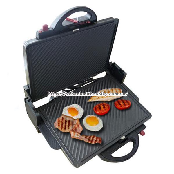 Sử dụng máy kẹp bánh mì ốp trứng, nướng thịt