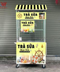 Tủ bán trà sữa Inox đẹp, bền