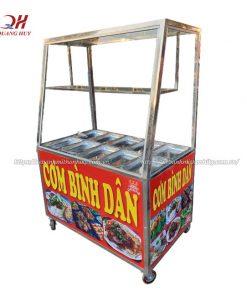 Tủ kính bán cơm inox Quang Huy