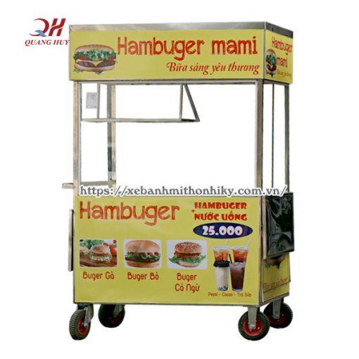 Xe bán bánh mì Hamburger Quang Huy