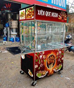 Mẫu xe bán xiên que Quang Huy sản xuất