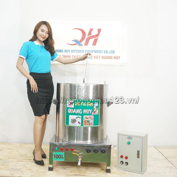 Hình ảnh bếp điện nấu phở 100 lit Quang Huy