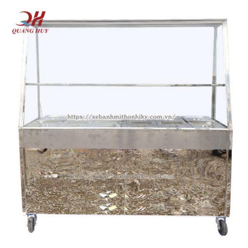 Khung tủ hâm cơm chất liệu inox 304 bền, đẹp