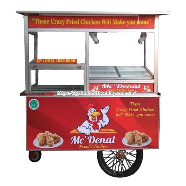 Kinh doanh bán gà rán bằng xe đẩy lưu động