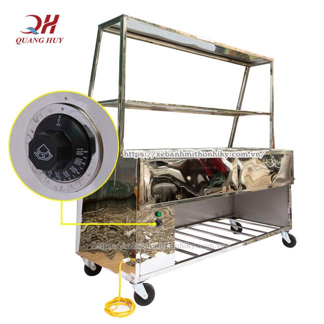 Núm xoay điều chỉnh nhiệt độ dễ dàng từ 30 -110 độ C