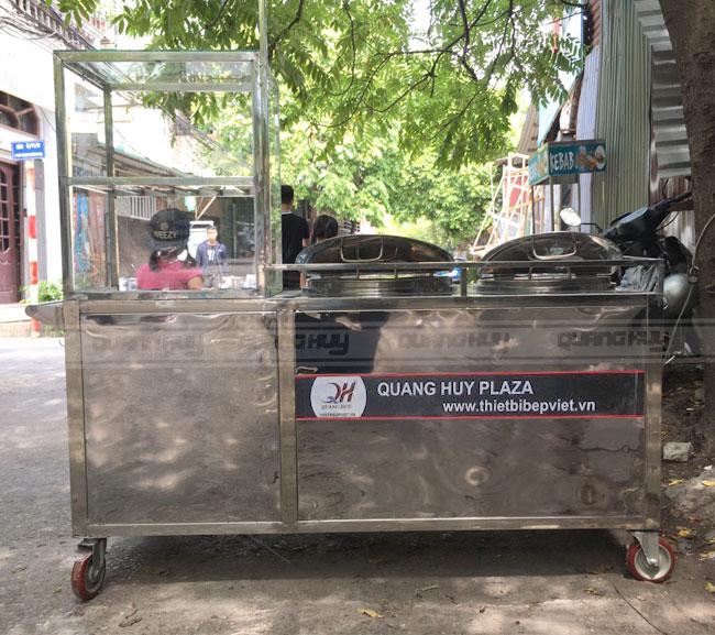 Quang Huy thiết kế xe inox bán hủ tiếu theo yêu cầu