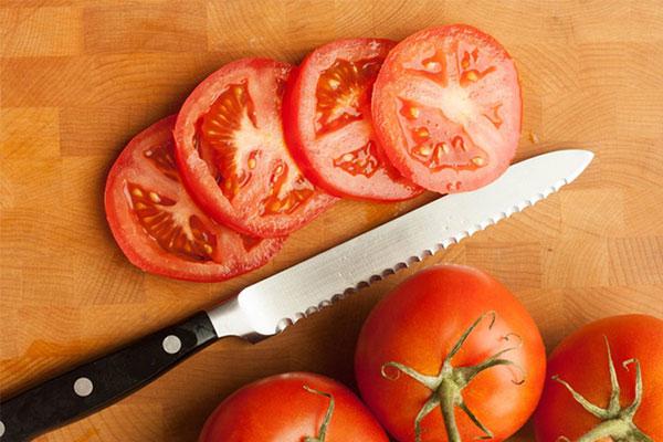 Cà chua thái lát tròn