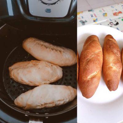 Hoàn thành món bánh mì bằng nồi chiên không dầu