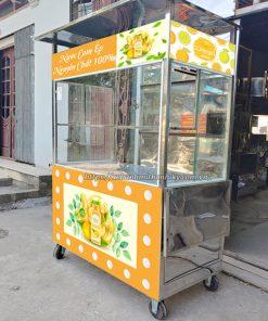 Mẫu xe đẩy nước cam ép Quang Huy