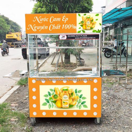 Xe đẩy bán nước cam ép