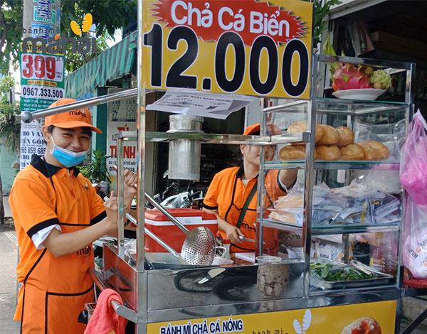 Bánh mì chả cá má hải khá được nhiều người yêu thích