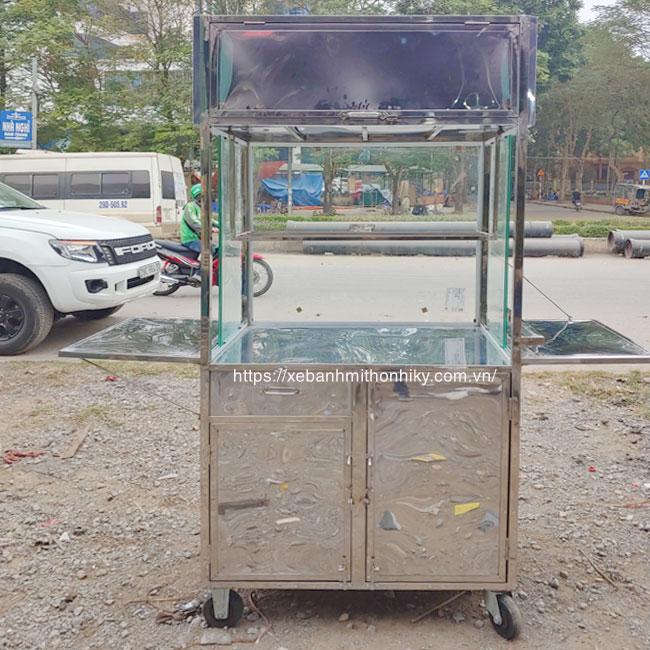 Khung xe đẩy bán chè Inox Quang Huy