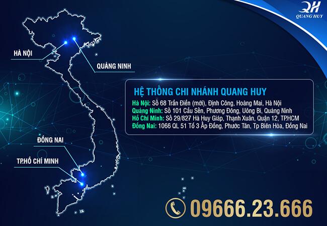 Hệ thống phân phối trực tiếp của Quang Huy trên toàn quốc