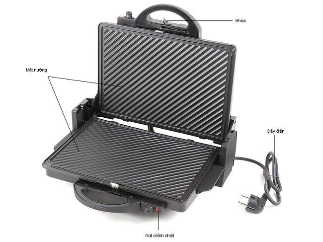Máy nướng bánh mì tam giác có cấu tạo vô cùng đơn giản
