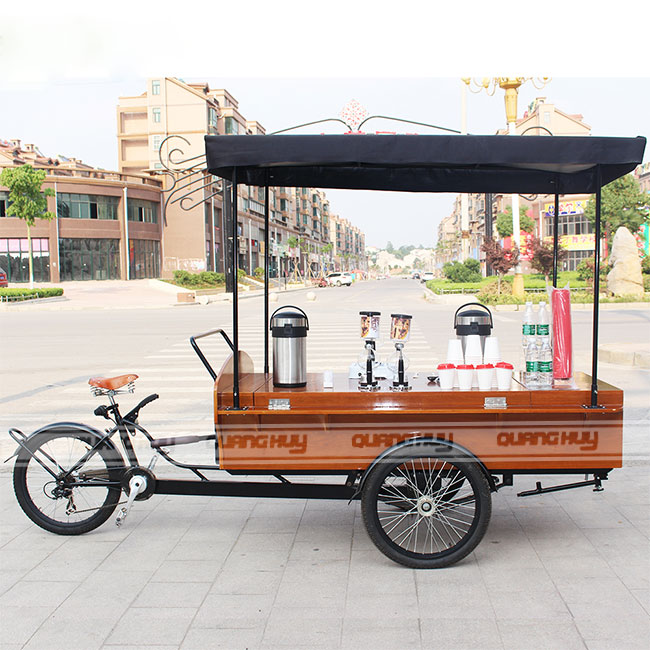 Đặt xe đạp bán cafe lưu động tại Quang Huy