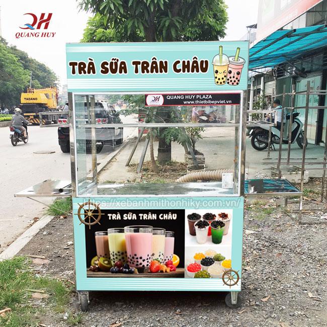 Đặt xe trà sữa Inox đẹp giá rẻ tại Quang Huy