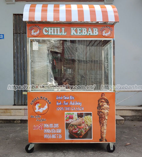 Đặt xe bánh mỳ Thổ Nhĩ Kỳ mái vòm giá rẻ tại xưởng cơ khí Quang Huy