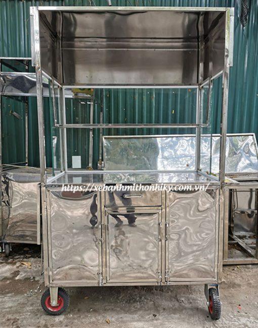 Khung xe hoàn toàn từ chất liệu Inox 304 với độ bền cao