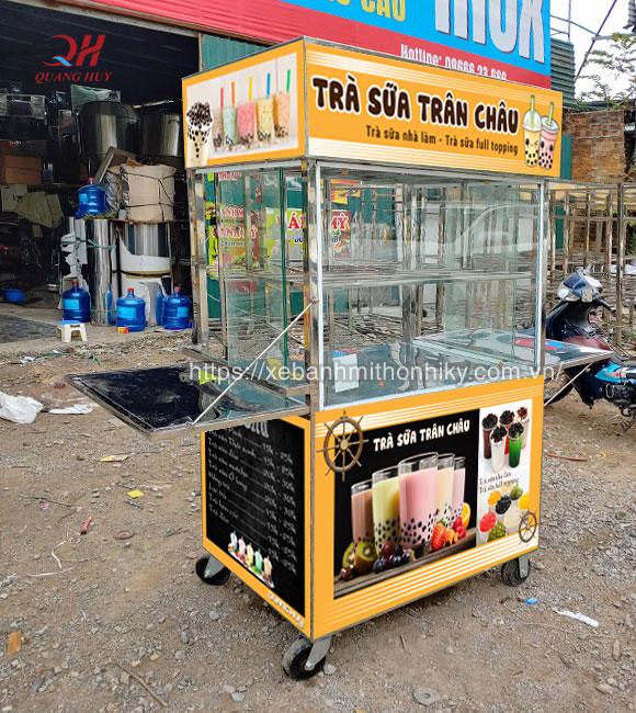 Mẫu tủ trà sữa chân trâu bằng Inox tại Quang Huy