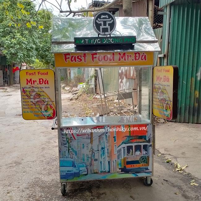 Mẫu xe bán đồ ăn nhanh, đồ ăn vặt Quang Huy