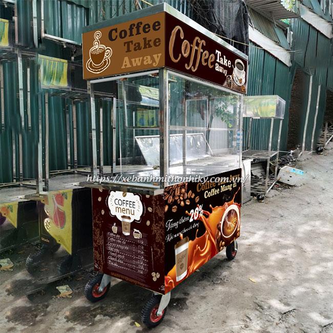 Mẫu xe cà phê lưu động với đề can nổi bật thu hút