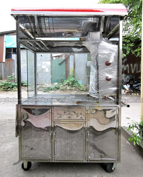 Khung xe đẩy bán bánh mì Thổ Nhĩ Kỳ mái vòm bằng Inox 304 không gỉ, chắc chắn
