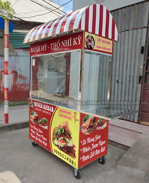 Mẫu xe đẩy bán bánh mì Thổ Nhĩ Kỳ mái vòm Quang Huy sản xuất và phân phối