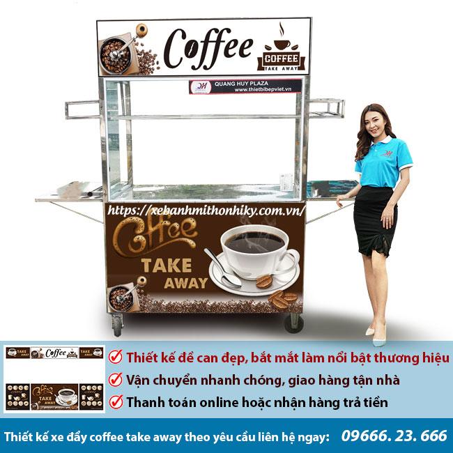 Thiết kế xe bán cafe theo yêu cầu tại Quang Huy