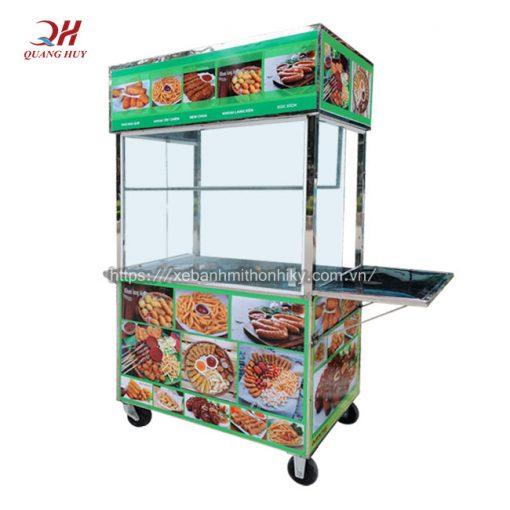 Xe đẩy bán đồ ăn vặt do Quang Huy sản xuất và phân phối tại xưởng