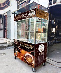 Mẫu xe đẩy bán cafe mang đi giá rẻ đẹp
