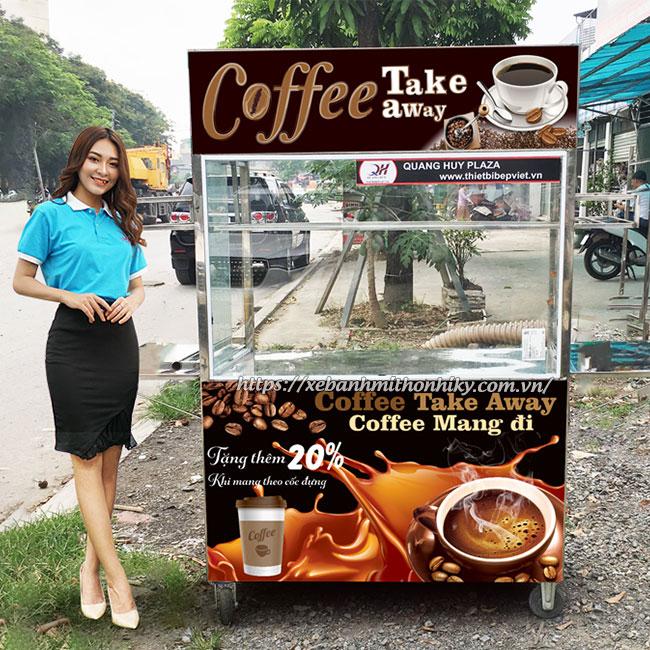 Xe bán cafe mang đi do Quang Huy sản xuất và phân phối