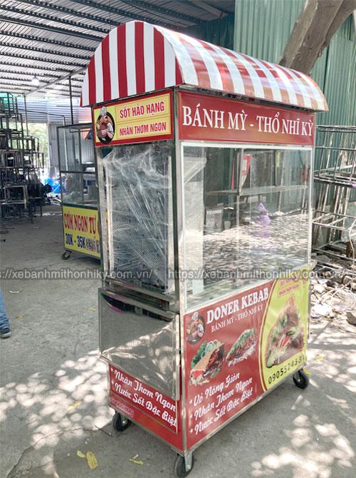 Xe đẩy bán bánh mì Thổ Nhĩ Kỳ mái vòm