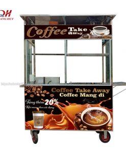 Mẫu xe đẩy bán cafe mang đi