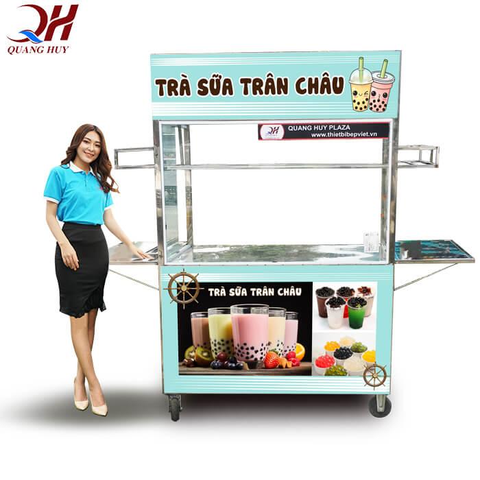 Mẫu xe bán trà sữa lưu động tại Quang Huy