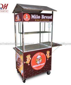 Thiết kế tủ xe đẩy mini với 1 bàn gấp phụ tối ưu diện tích sắp xếp đồ đạc