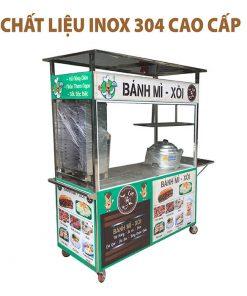 Xe bán xôi bánh mì chất liệu inox 304 cao cấp