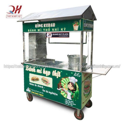 Xe bán xôi bánh mì Doner Kebab tại xưởng Quang Huy