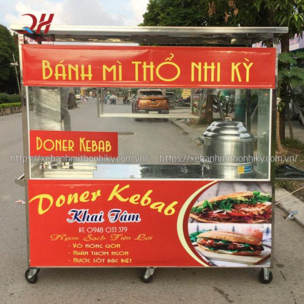 Quang Huy sản xuất và phân phối xe bánh mì xôi Doner Keab