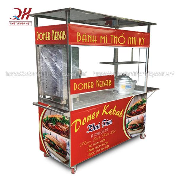 Xe bánh mì Doner Kebab bán kèm xôi mặn đa năng