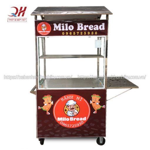 Xe đẩy bán bánh mì mini Milo Bread