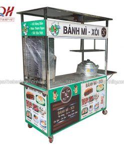 Mẫu xe đẩy bán bánh mì kebab, xôi xá xíu, trứng rán,....