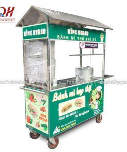 Xe đẩy xôi bánh mì King Kebab Quang Huy gia công và phân phối