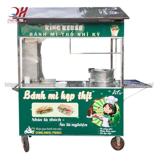 Xe đẩy xôi bánh mì King Kebab Quang Huy