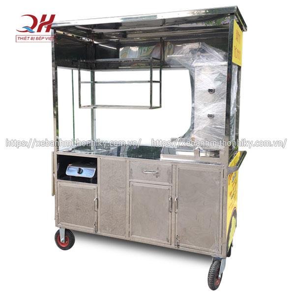 Khung tủ xe đẩy bánh mì Inox 304 cao cấp, bền bỉ