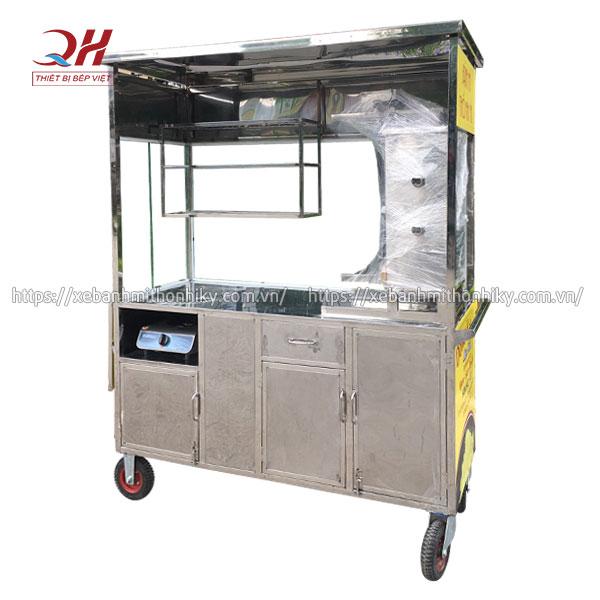 Khung xe bánh mì Mộc Nhi Inox 304 chắc chắn