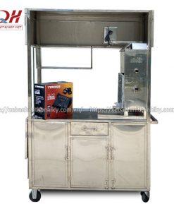 Khung xe đẩy bánh mì Inox 304 không gỉ, cao cấp, độ bền cao