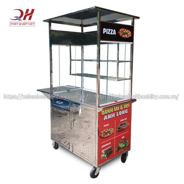 Khung xe đẩy Pizza Inox 304 bền bỉ